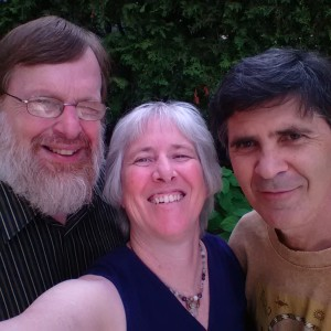 Our editor John J. Heney (L) with interviewer Lynn Thompson (C) and Paul LeMay (R) in Ottawa, September 2014.